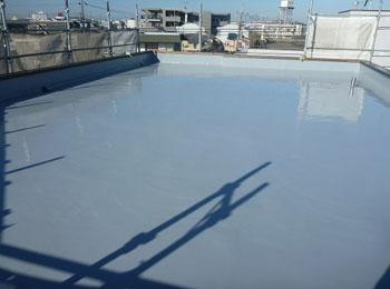 屋上シート防水部分